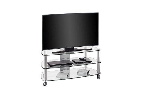 Tv Rack Tv Mobel Metall Alu Klarglas 1100 X 506 X 508 Mm 218 00