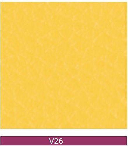 Besucherstuhl Objektstuhl Ultra-S Chrom Leder Optik v26 gelb