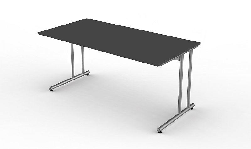 Kerkmann Schreibtisch Start Up 160x80x75 Cm C Fuß Gestell Alusilber