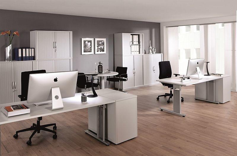 Gera Schreibtisch Bürotisch C Fuß Flex Höhenverstellbar 1800x800x680