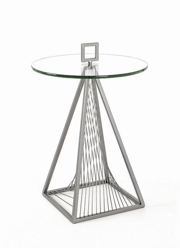 Beistelltisch Couchtisch Glastisch Metall Glas 114 90