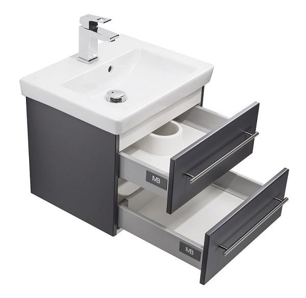 badm bel waschplatz waschbecken homeline 70cm mit unterschrank wei h 229 90. Black Bedroom Furniture Sets. Home Design Ideas