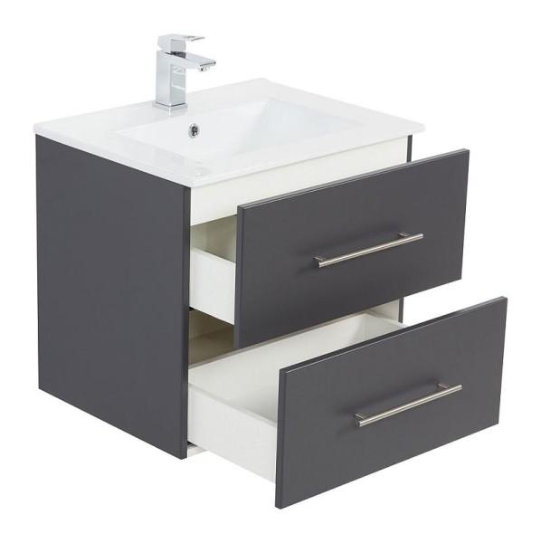 badm bel waschplatz waschbecken homeline 60cm mit unterschrank anthra 199 90. Black Bedroom Furniture Sets. Home Design Ideas