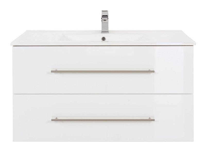 badm bel waschplatz waschbecken homeline 90cm mit unterschrank wei h 269 90. Black Bedroom Furniture Sets. Home Design Ideas