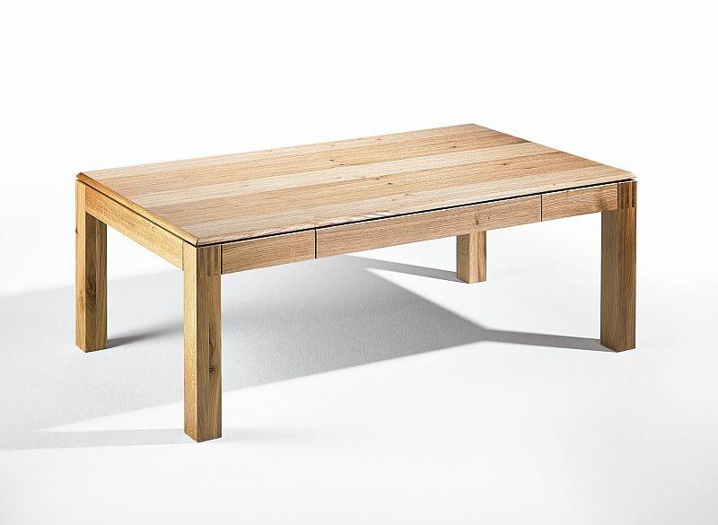 Massivholz Couchtisch Asteiche Furniert Mit Schublade 120x75x47cm