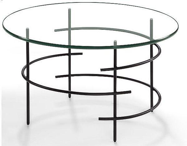 Moderner couchtisch beistelltisch metall schwarz klarglas tischplatte 359 00 - Couchtisch metall schwarz ...