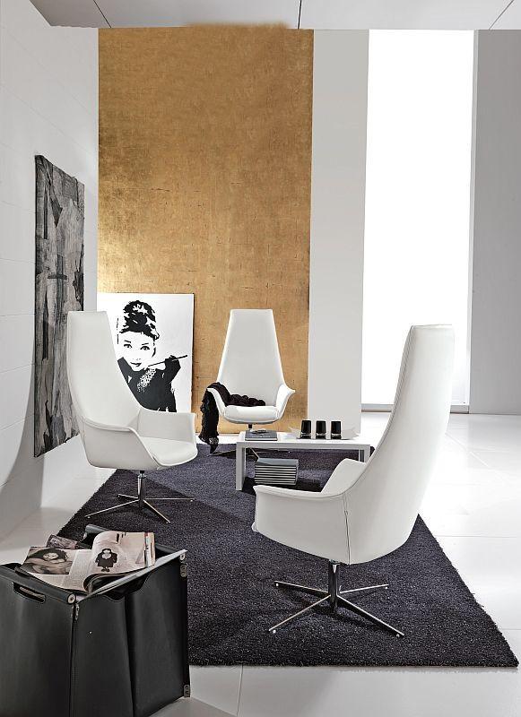 Design Lounger Kimera 4 Fußkreuz hoher Rücken