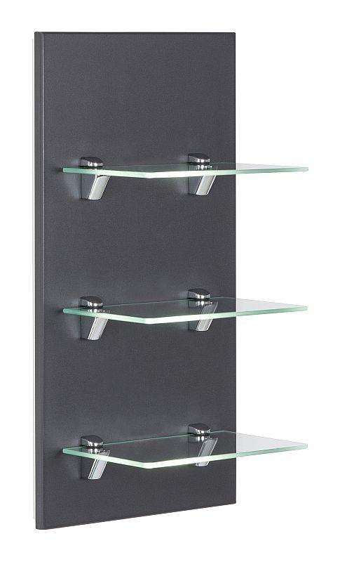 Posseik Badezimmer Glasregal Panel anthrazit