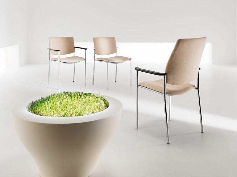 besucherstuhl objektstuhl zen lb arm chrom c mit armlehne 4 bein nied 90 70. Black Bedroom Furniture Sets. Home Design Ideas