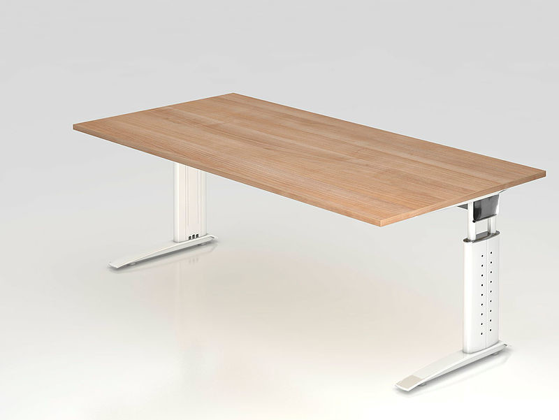Hammerbacher Buro Schreibtisch 200x100 Cm Nierenform Modell Us20