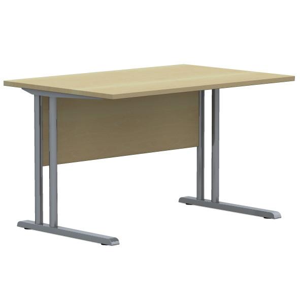 Bürotisch mit C-Fuß Gestell Schreibtisch 180 x 80 cm Dekor Ahorn