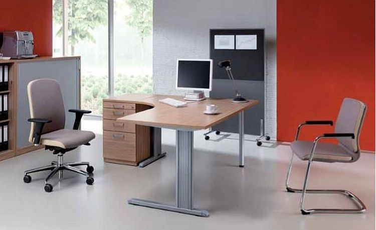 Schreibtisch Burotisch E10 Toro Tiefe 60x60 Cm Freiform C Fuss