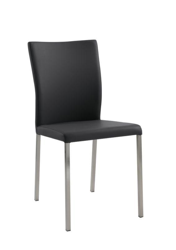 Design Stuhl Esszimmerstuhl Daimo 1 Edelstahl Kunstleder 155 00
