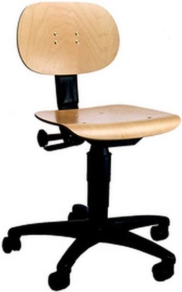 Arbeitsstuhl Bürostuhl Werek Footbase Holzsitz
