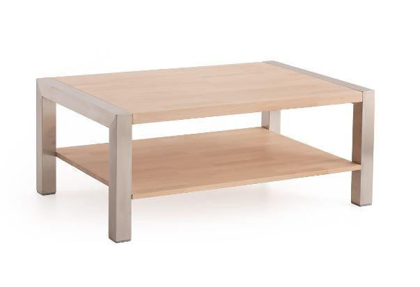 Moderner Massivholz Couchtisch Ct 066 Mit Edelstahl Kufen 350 00