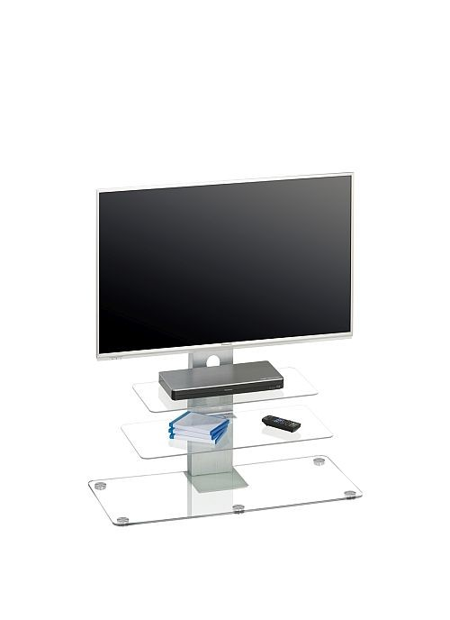 Tv Rack1641 Metall Alu Glas 90 X 95 X 40 Cm 16900