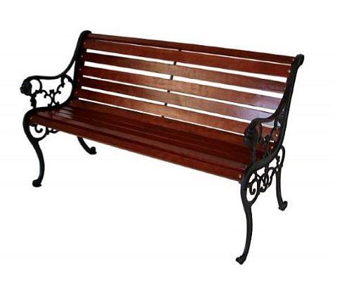 Gartenbank 3-Sitzer aus Metall und Streckmetall eisengrau beschichtet