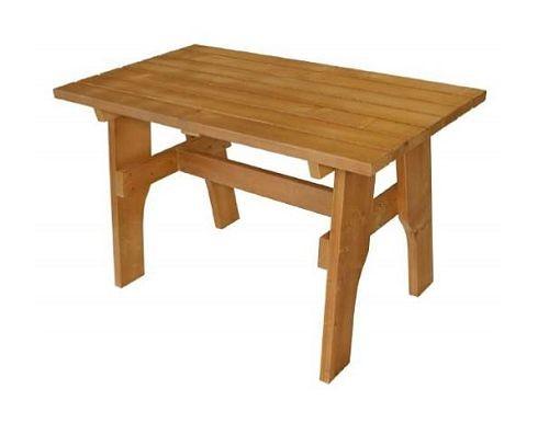 Gartentisch Holztisch Tisch Aus Kiefernholz Massiv Hellbraun 70 X