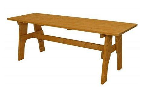 Gartentisch Holztisch Tisch Aus Kiefernholz Massiv Hellbraun 159 00