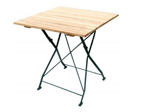 Klapptisch Holztisch Gartentisch Tisch Gestell Dunkel Grun 70x70 Cm