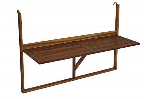 Balkonhangetisch Klappbar Halbrunder Tisch 60x40 Cm Schwarz 32 00