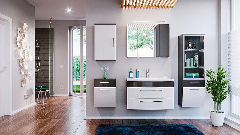 Badezimmer komplett for Badmobel anthrazit hochglanz