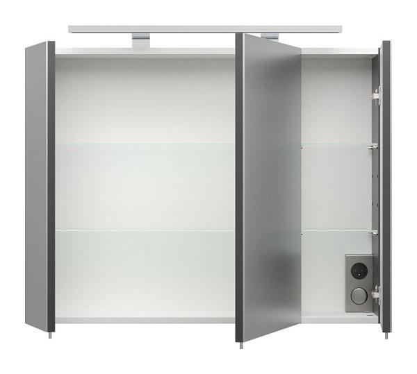 Badmöbel-Set Badezimmer Rima 6-teilig Anthrazit-Weiß, 948,00 €